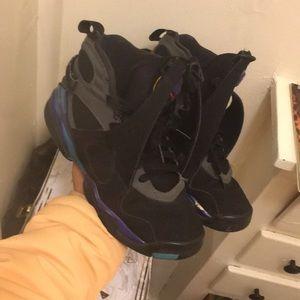 Jordan 11 aqua 8s size 6y